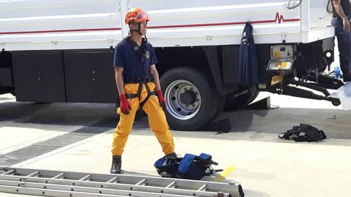 新竹縣消防局代表我國參加新加坡國際團體挑戰賽奪第三 共8張圖片