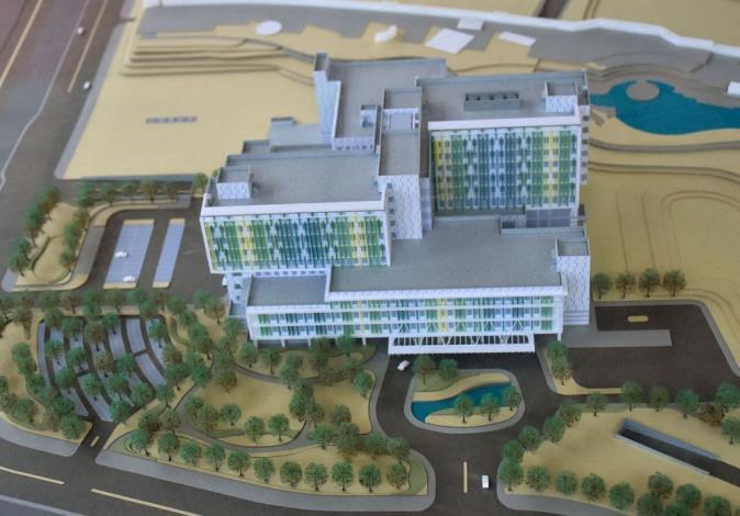 臺大醫院新竹生醫園區分院新建工程上樑典禮 共7張圖片