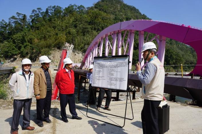 「竹樹拱月」造型義興大橋  完工後將成尖石鄉新地標