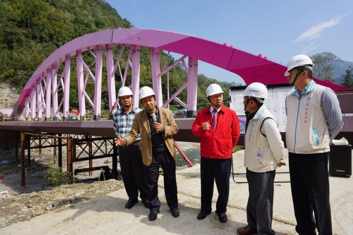 「竹樹拱月」造型義興大橋  完工後將成尖石鄉新地標 共3張圖片