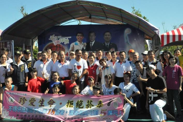 竹警舉辦青春三對三籃球賽 600多位青少年尬球技 共11張圖片