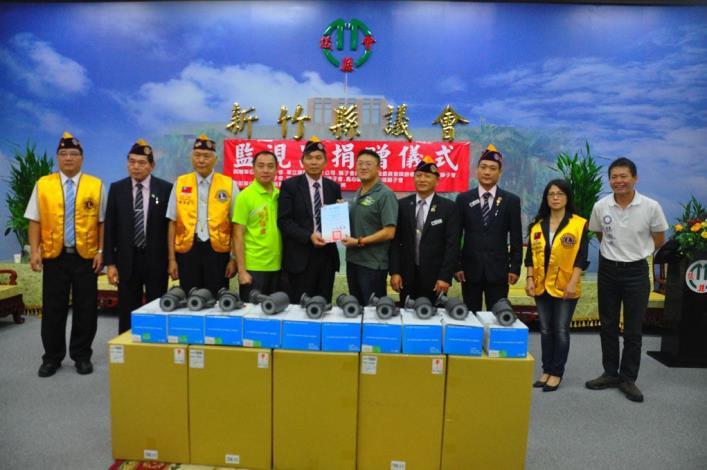華立捷科技股份有限公司、新竹市新興獅子會捐贈監視器材