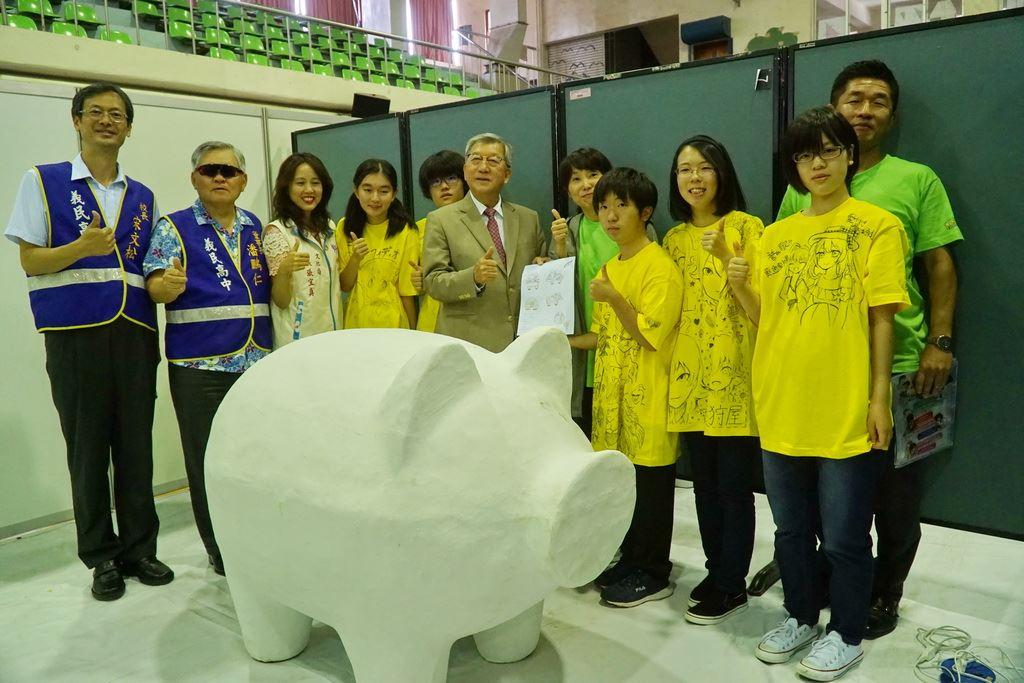 彩繪神豬國際友誼賽 日本高校生軋一角