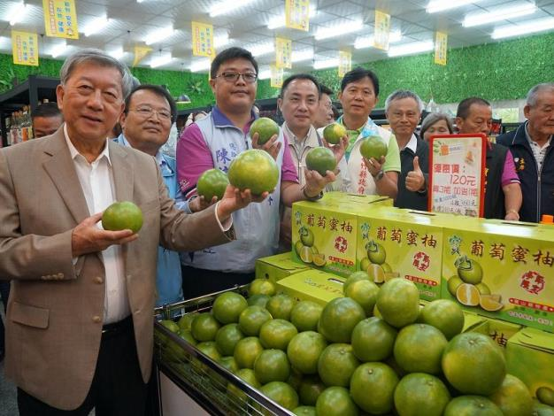 寶山鄉農村社區小舖開幕囉! 在地特色葡萄蜜柚微酸帶甜