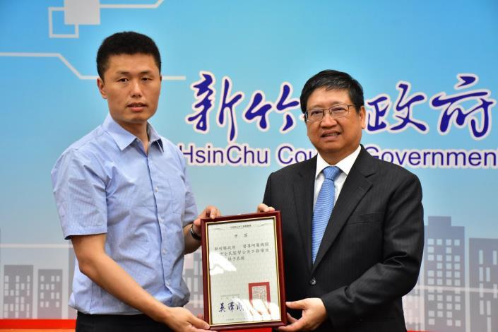 107年度全監督公共工程業務,新竹縣連續6年獲得非直轄市第一名