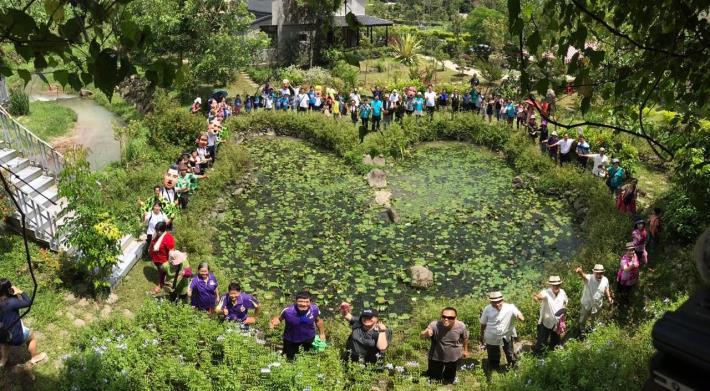 蝴蝶生態池大合照