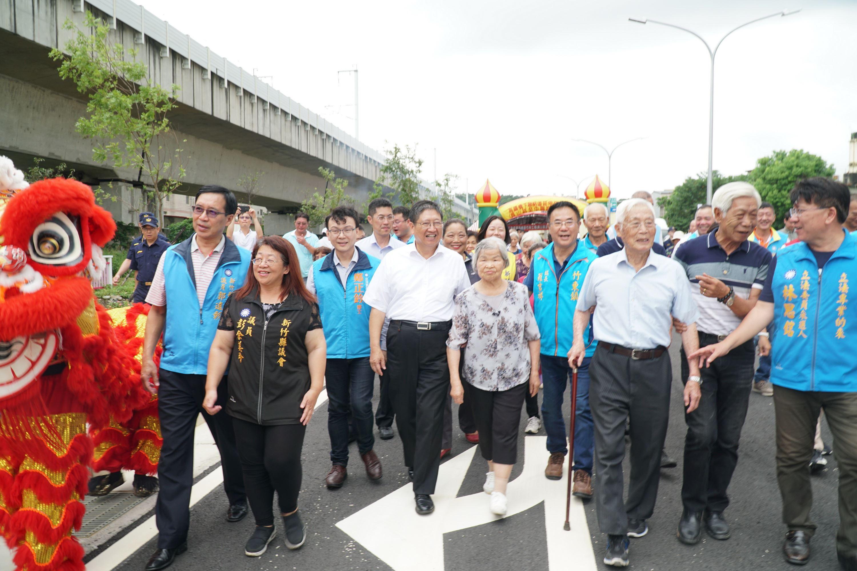 高鐵橋下工程 第二期員山路至中興路正式通車