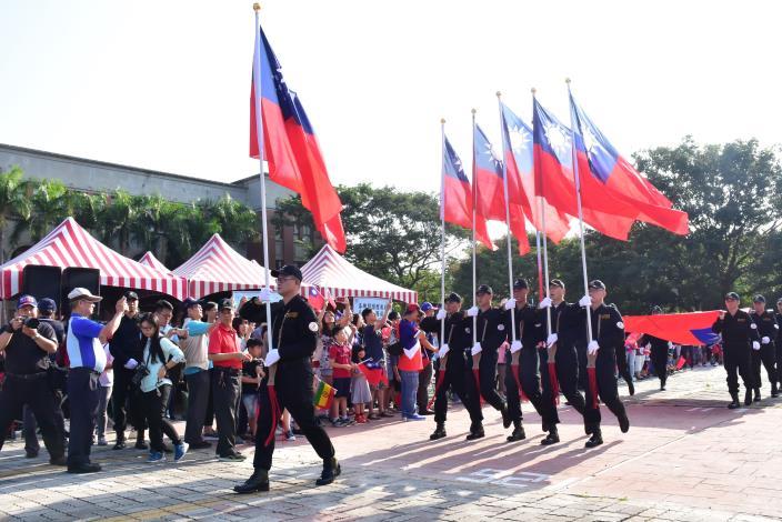 108年新竹縣政府雙十國慶升旗典禮 民眾齊聚歡度國慶日