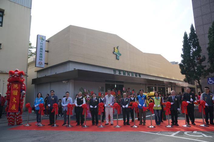竹北農民直銷站開幕      呼應蔬果自然、無添加   走簡約文青風 共4張圖片