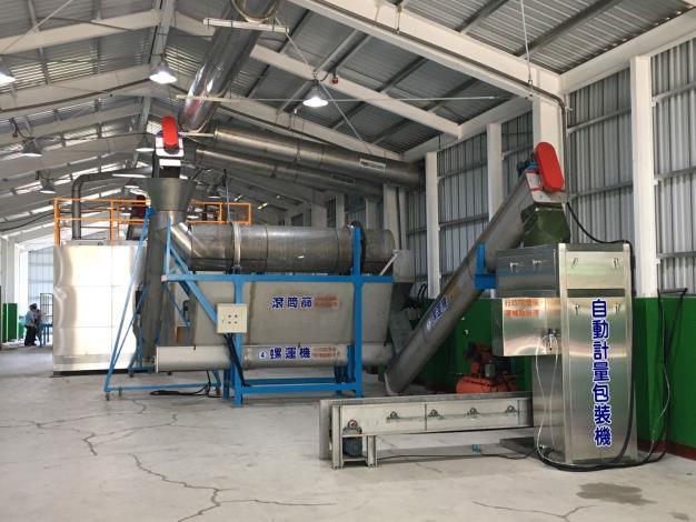 廚餘回收處理廠2.0啟用         加速發酵回收利用並有效降低異味