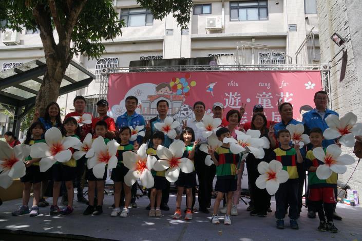 疫情趨緩竹縣拼觀光 「遊.童花」裝置展 竹東文創藝村正式開跑 共7張圖片