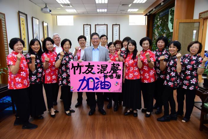 本縣竹友混聲合唱團參加台北樂齡合唱節交流音樂會 唯一全程演唱客家歌曲團隊 共2張圖片