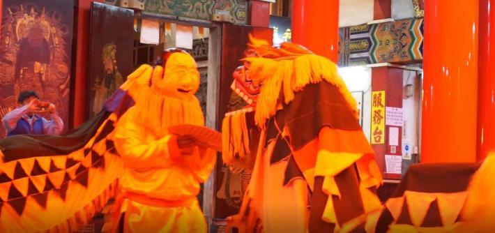 超暖心畢旅!竹縣小學生環島客家獅巡演 祈福疫情退散 共6張圖片