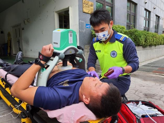 一月份急救成功率  竹縣消防勇奪全國第一