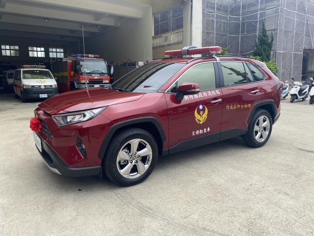 發揮地藏王救苦救難精神      竹北市北和宮捐車助消防 共2張圖片