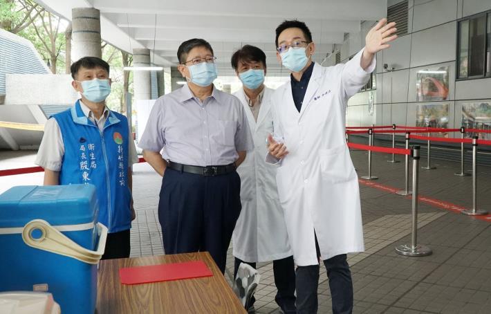 竹竹苗防疫作戰聯盟成立加強防疫力道  新竹縣完成首座大型疫苗接種站