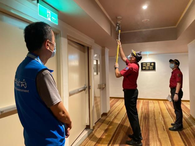 竹縣防疫旅館加強消防安檢 讓入住者安心檢疫隔離 共2張圖片