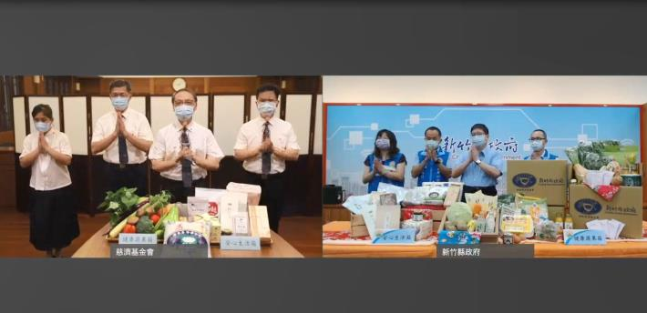 竹縣府與慈濟合作供應蔬菜、食品5896箱物資助千名弱勢學童6