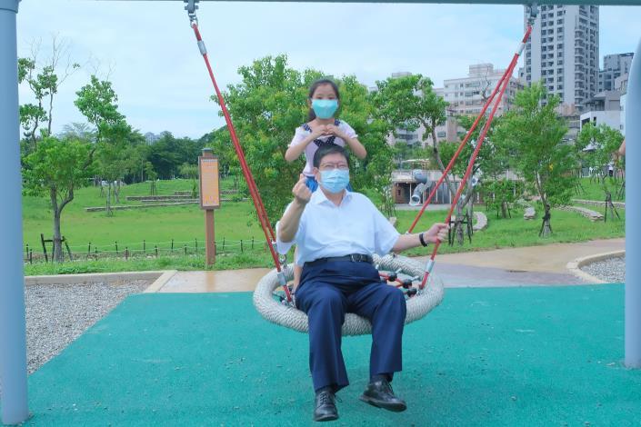 AI智慧園區公園明日正式開放 楊縣長與孩子們開箱體驗好嗨! 共8張圖片