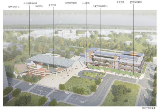 竹東客家音樂村案將解凍  縣府增加圖書館元素調整規劃為「竹東文化大禾埕」 共2張圖片