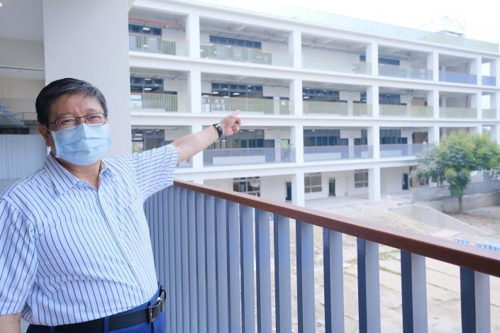 竹縣府耗資2.35億元增建成功國中校舍 新教室開學日啟用 共6張圖片