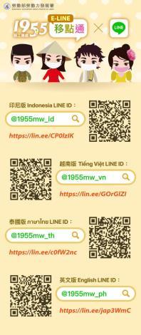 勞動部勞動力發展署推出「Line@移點通」