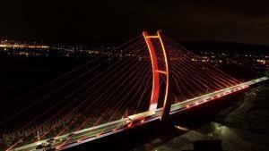 Zhongzheng Bridge Opens: The North Taiwan's Tallest Cable-Stayed Bridge (3 photos)
