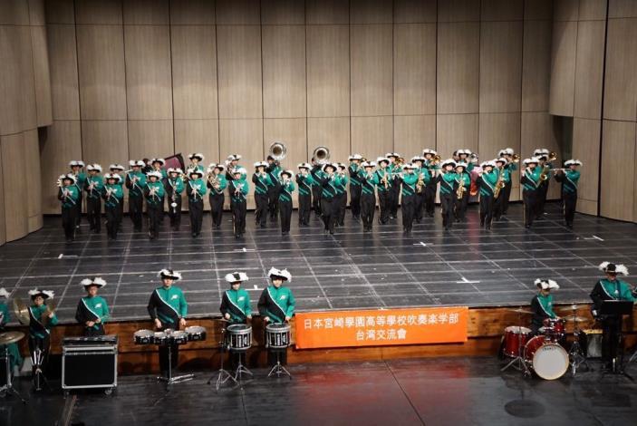 Miyazaki Gakuen Senior High School Concert Band performs in Hsinchu County (15 photos)