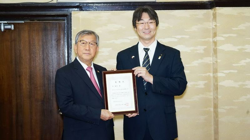 Magistrate Chiu feels honored to serve as Miyazaki Ambassador due to great dedication to Taiwan-Japan exchanges