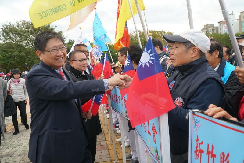 Magistrate Yang outlines his vision for the future at the New Year's Day flag raising ceremony