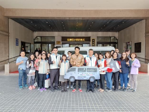 Mr. and Mrs. Huang donate a rehab bus to provide the disabled with transport services