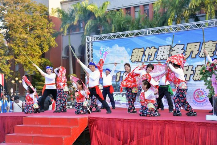 新竹縣各界慶祝107年元旦升旗典禮、「日出迎新 為愛而跑」