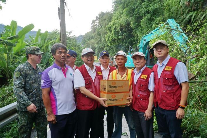 瑪莉亞颱風來襲 副縣長挺進五峰後山勘災