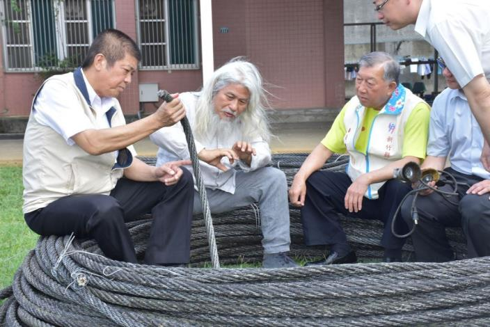 The old steel cable of Qingquan Suspension Bridge will be transformed into a public artwork in Wufeng Township